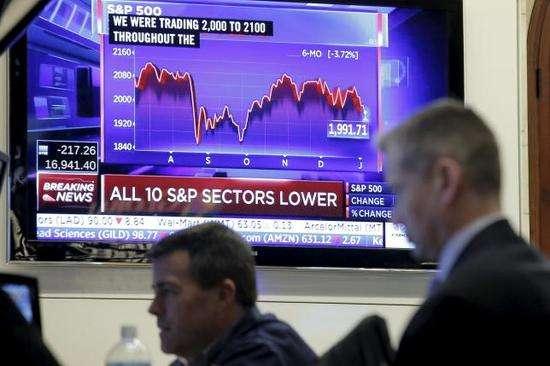 """美股投资者""""用脚投票""""美股市值一日蒸发近8000亿美元"""