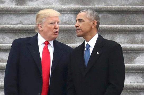 奥巴马打破传统 痛批特朗普疯狂行为